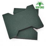 Wholesale Outdoor Rubber Brick Bone Shape Puzzle Floor Tile Rubber