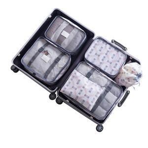 6 piece packing cubes 6 set  6 in 1 travel organizer