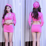 Fashion underwear sexy lingerie long sleeves chinese style sexy airline hostess uniform