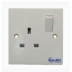 Hot Sale single pole doulbe pole White 13a Socket for Industrial