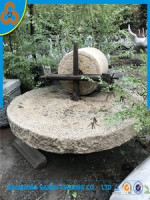 garden decoration sale old millstone with antique millstone roller base