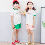 Lovely Girls Boys Summer Short Sleeve Set kids t shirt + shorts 2 pieces sets childrens clothing sets tee + short pants outfits