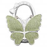 Portable Butterfly Hanger Folding Handbag Hook Table Desk Hanging Clip Holder Multi-color Bag Hanging Hook Purse Bag