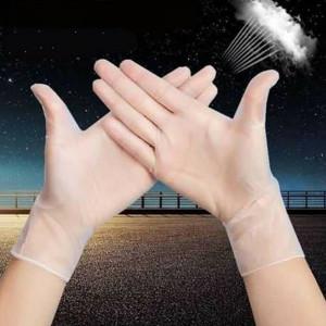 100Pcs Disposable PVC Gloves Garden Restaurant Home Food Baking Hand Cover Tool