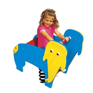 Moetry Spring Rider Playground Equipment Spring Ride on Animal Crossing Rocking Horse for Daycare Backyard