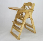 multifunctional wooden baby feeding chair/leaning table