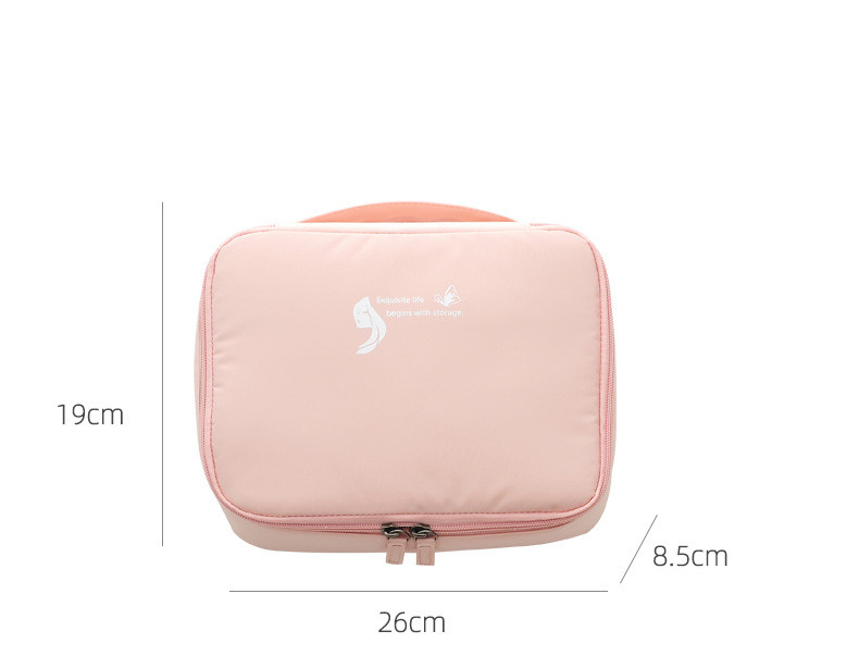 2020 New Memory Fabric Travel Cosmetic Bag For Make Up Women Men Makeup Cosmetic Bags Cases