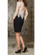 Beautiful white black short prom dress