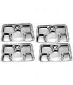 Dinner Set Price Round Meat Trays Stainless Steel Compartment Tray