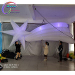 Inflatable flag puppet Inflatable sea urchin Polaris star puppet for parade