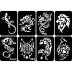 Wholesale Amazon Hot Sale Cheap Low MOQ Custom Design Plastic Repeat Used Temporary Airbrush Tattoo Stencil Books
