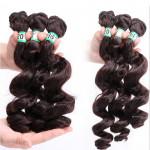Wholesale Loose Wave Synthetic Hair Extensions Hair Pieces  Fiber Loose Wave Hair Bundles