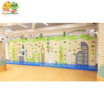 Climbing wall indoor outdoor playground commercial cheap PE board