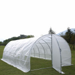 diy  garden greenhouse/  tunnel greenhouse with door