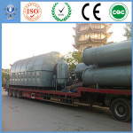 Gas/oil/coal/wood burning system: New waste tire recycling to oil machine