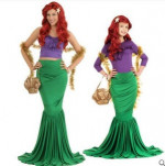 The ariel little mermaid costume Christmas Princess Mermaid cosplay