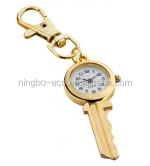 Fashion Trend Creative Gold Key Chain Watch Portable Watch Quartz Pocket Watch