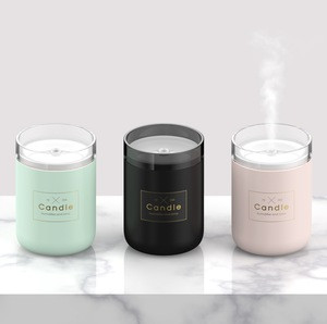 Ultrasonic portable Air Candle Humidifier Car Fogger Cool Mist Maker essential oil USB Aroma diffuser