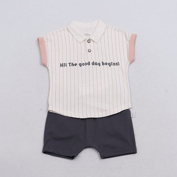 Import Baby Short Sleeve Cloth Set Baby Clothes Kids Wear from China