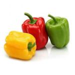 fresh green yellow red chili bell pepper