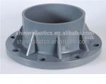 Injection Molding PVC Plastic Cap Flange