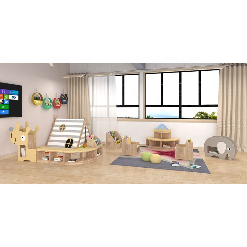 Moetry Specialized Customized Library Furniture Pre School Reading Room Design