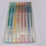 multi color fancy colorful gel ink marker pen with color box packing for school&office supply and promotional gifts