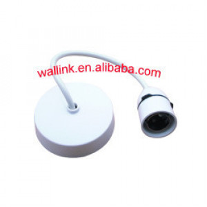 New Listing Urea/Bakelite/Pps Pvc White Silicone Lamp Holder With Textile Electric Cord Uk Type