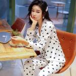 Pajamas women summer ice silk sexy pajamas two-piece set female casual home wear sweet pajamas
