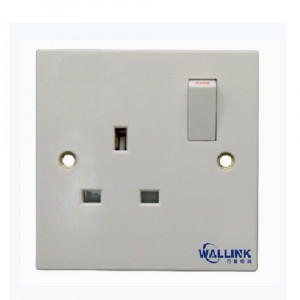 2021 Single Pole Doulbe Pole White 13a Doule Wall Socket Switch for Industrial