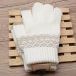 Customize Acrylic Winter Touchscreen Magic Gloves Women Men Warm Stretch Knitted Wool Mittens Touch Screen Gloves