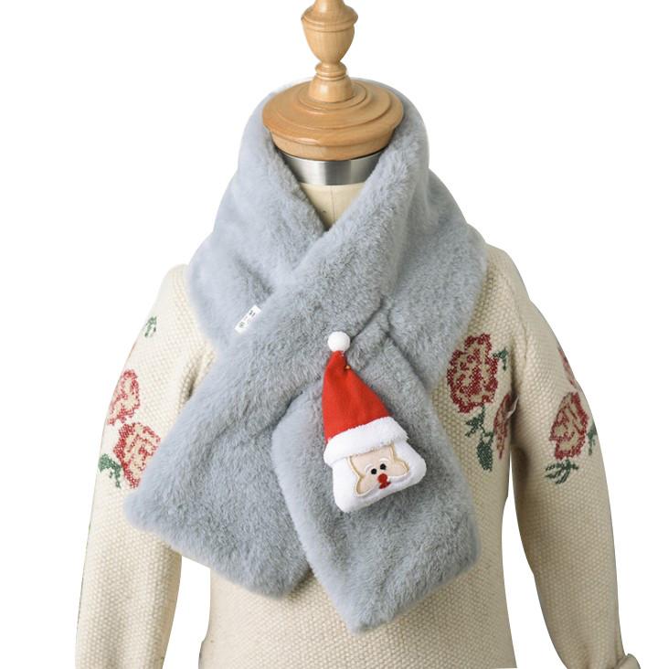 Autumn and winter children's scarf christmas Santa Claus creative cartoon pattern warm scarf