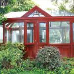 Custom outdoor garden curved frame aluminum glass  sunroom