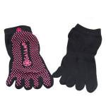 Wholesale High Quality silicon anti slip grips cotton five finger toes yoga socks Yoga Socks