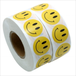 Smile face adhesive paper roll sticker