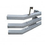 Wholesale price three beams traffic guardrail price modular vehicle barrier