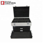 Big Professional Aluminum Carrying Tool Case With Compartment Board