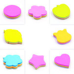 Custom Small Online 3M Letter Shaped Yellow Cheap Sticky Notes