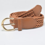 wholesale new designer braided thin slimming classic wax rope women belt for woman jeans dress fashion wear