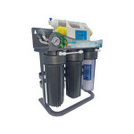 7 stage Domestic RO water  filter with stainless steel frame and pressure gauge