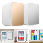 8L Mini Fridge Mini Cold Drink Refrigerator Single Door Freezer Cooler and Warmer for Cars Homes Offices Dorms