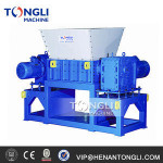 Double shaft tire shredder with cheap price scrap metal shredder for sale