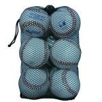 "simple cheap  9""*12pcs baseballs  net mesh  bag pouch with drawstring"