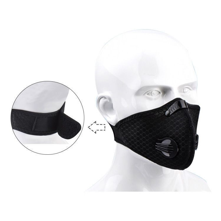 020 Outdoor cycling maskes five layer filter with carbon cloth mouth maskes fashion sport face maskes with valve for dust