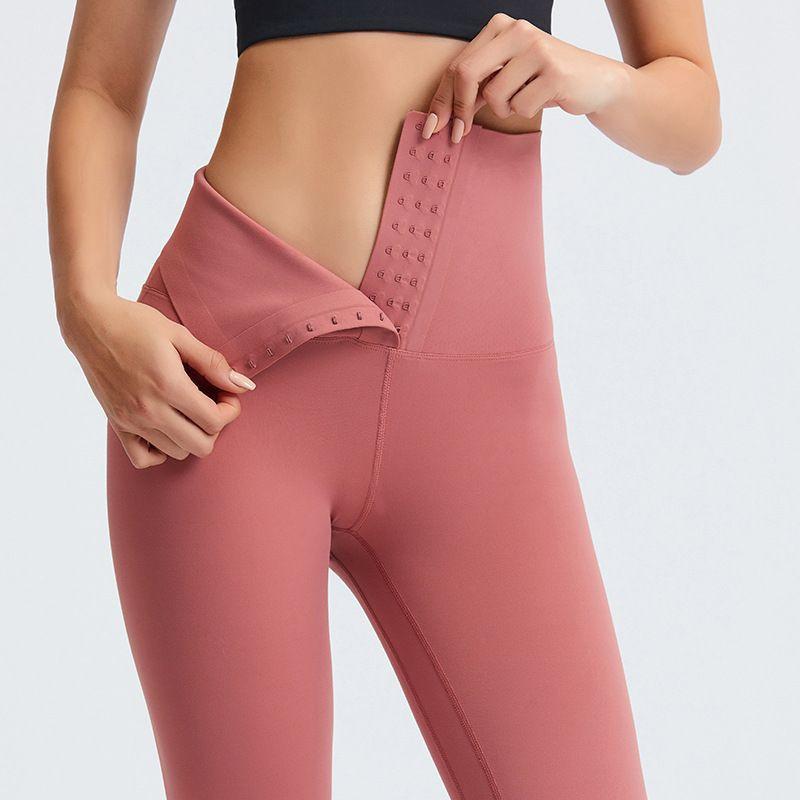 New Design 2 In 1 Adjustable Hooks Tummy Control Waist Trimmer Women Fitness Butt Lifter Yoga Pants