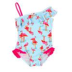 Hot sale Girls Pink unicorn swimsuit one piece kids bathing suit girls baby swimming wear