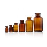 Factory Price Chemistry Experiment Pharmaceutical Glass Bottles Stoppered Reagent Bottles Amber Glass