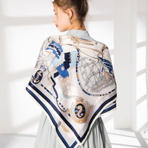 whoelsale 90*90cm silk satin scarf from silk supplier and exporter