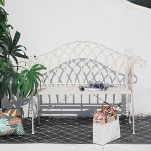 Garden furniture vintage metal steel garden leisure bench for public park