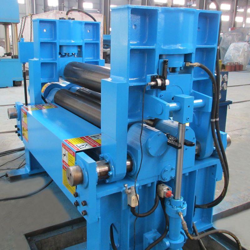 Import W11S series 3 Rollers Hydraulic Plate rolls Sheet metal  roll bending machine upper roller Hydraulic Rolling Machine from China